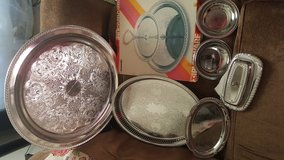 Free silver plated serving dishes in Fort Carson, Colorado