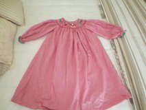 Girls Christmas Dress Size 4T, hand smocked in Fort Rucker, Alabama