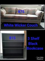 White Wicker Couch in Fort Campbell, Kentucky