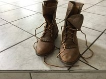 Boots Leather Justins Lace Up Womens Size 8 in Ramstein, Germany