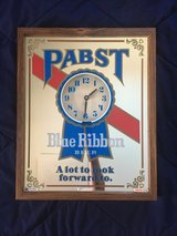 Pabst Blue Ribbon Mirror Clock in Algonquin, Illinois