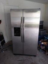 Almost new Side by side stainless fridge in MacDill AFB, FL