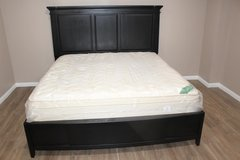 King Size solid wood bed and mattress in perfect condition for sale! in Spring, Texas
