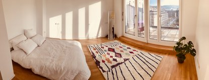 Living Above the Rooftops of Milaneo - 108 sqm, Balcony, Fitted Kitchen in Stuttgart, GE