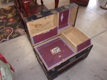 Vintage Camel Back Trunk With Inserts in Fort Riley, Kansas