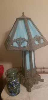 OLD and heavy blue slag glass lamp in Byron, Georgia