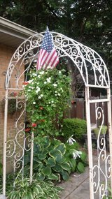 Vintage style arbor in Chicago, Illinois