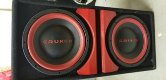 Crunch Subs in box with amp in Camp Pendleton, California