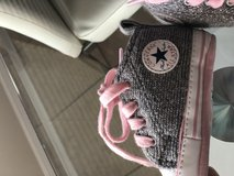 Pink and silver girls converse size 2 in Pasadena, Texas