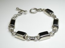 925 Silver & Black Onyx Toggle Bracelet in Pearland, Texas