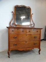Antique Oak Dresser wtih Mirror in Pearland, Texas