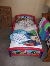 Disney Toddler Bed With Mattress And Sheet In Fort Riley, Kansas