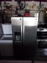 Kenmore Chrome Refrigerator With Water and Ice in Door in Fort Riley, Kansas