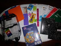 Supplies & clear backpack in Spring, Texas