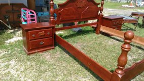 King Size Bed Frame 2 Night Stands in Fort Polk, Louisiana