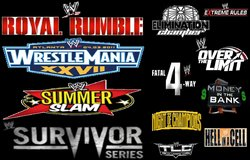 WWF/E/, NWA/WCW, ECW CHOOSE YOUR PAY PER VIEW (FULL PPV SHOWS) in Pasadena, Texas