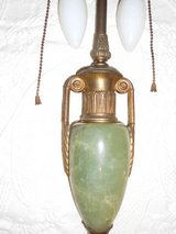 Antique, Green Alabaster Table Lamp in Beaufort, South Carolina