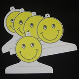 Children's Boutique Garment Retail Display Hangers Yellow Smiley Face 5 Handmade Cardboard in Macon, Georgia