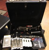 Evette clarinet with 8 reeds/ 4 plastic reed holders, a silk clarinet swab and cleaning kit in Camp Lejeune, North Carolina