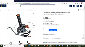 Champion Wheelybird Electronic Trap Auto feed clay trap thrower in Hopkinsville, Kentucky