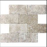 "26 Tiles 3"" x 6"" Travertine Natural Stone Noce 73137 Tumble Marbled Tile Bathroom Back Splash Co... in Houston, Texas"