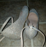 Champagne Bling Wedges in Beaufort, South Carolina