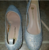 Silver Bling Wedges in Beaufort, South Carolina