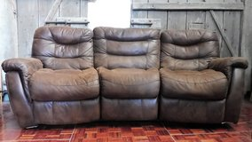 Big Plush Reclining Brown Couch. in Ramstein, Germany