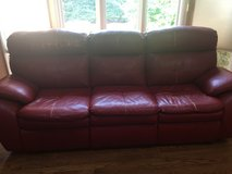 Leather Recliner sofa and a matching chair in Aurora, Illinois