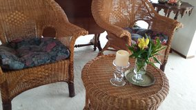 Vintage wicker patio set 1940's in Fort Lewis, Washington