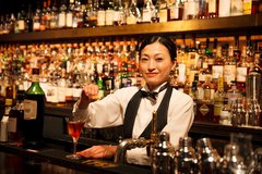 Female Bartender in Okinawa, Japan
