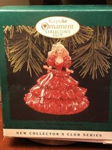 Keepsake ornament collectors club holiday Barbie in Fort Knox, Kentucky