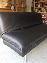 Black Leatherette Sofa Bed in Fort Campbell, Kentucky