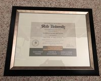 STUDIO DECOR Black & Silver Document Frame in Fort Polk, Louisiana