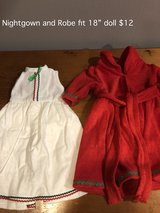 """White nightgown and Red Robe fit 18"""" doll in Joliet, Illinois"""