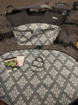 JJ Cole Diaper Bag like new used once no stains very clean has stroller straps paci pack matching in Fairfield, California