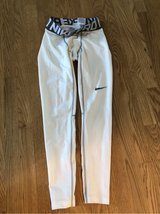 Nike pro long white compression tights in Lockport, Illinois