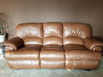 Reclining leather sofa, loveseat and chair in Aurora, Illinois