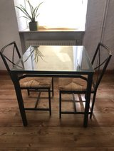 Glass top dining table w/2 Chairs in Spangdahlem, Germany