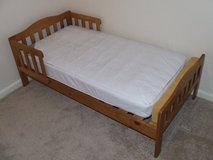 Wooden Toddler Bed with Mattress in Lakenheath, UK