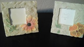 Two Flowered Picture Frames 6x6 Perfect Condition in Aurora, Illinois