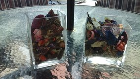 Fresh Potpourri  In Glass Square Vases in Sandwich, Illinois