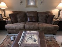 Couch, Oversized Chair, Ottoman and pillows in Fort Rucker, Alabama