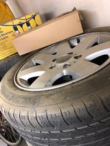 Four BMW 328i Tires and Rims in Fairfield, California