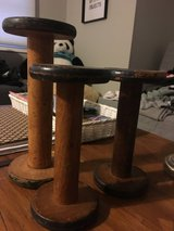 3 wooden spools in St. Charles, Illinois