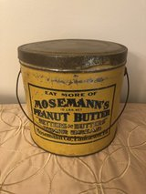 Mosemann's 10lb Peanut Butter Tin, Lid and Handle in Westmont, Illinois
