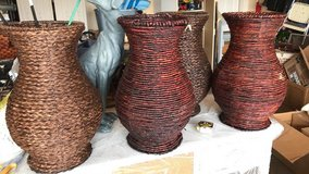 NEW Wicker Basket/vases in Plainfield, Illinois