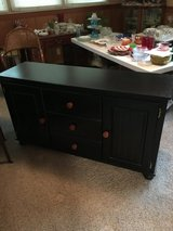 Wooden buffet cabinet black in Fort Riley, Kansas