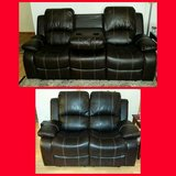 New Brown leather reclining Sofa & loveseat in The Woodlands, Texas