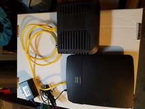 Cisco Linksys Wireless-N300 Router, and Modem Model E1200 NP v2 in Joliet, Illinois